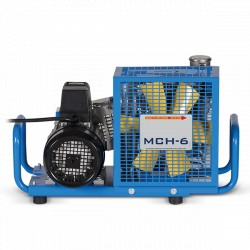 MCH 6 EM 220 VAC 4 Stage Air Cooled,  Light Industrial SCUBA 300 BAR Compressor